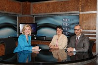 MDTV anchor Patricia Stark with experts Michelle Malavet and Peter Tabbot.