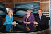 Patricia Stark, MDTV anchor with experts Nancy Gerrity and George DiFerdinando.
